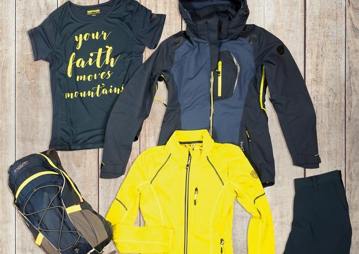 Northland Professional Wanderjacke Windstopper Regenjacke Frauen schwarz